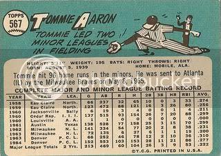 #567 Tommie Aaron (back)