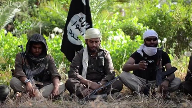 Three British Muslims, two from Cardiff and one from Aberdeen, in an Isis video to recruit jihadists in Iraq and Syria