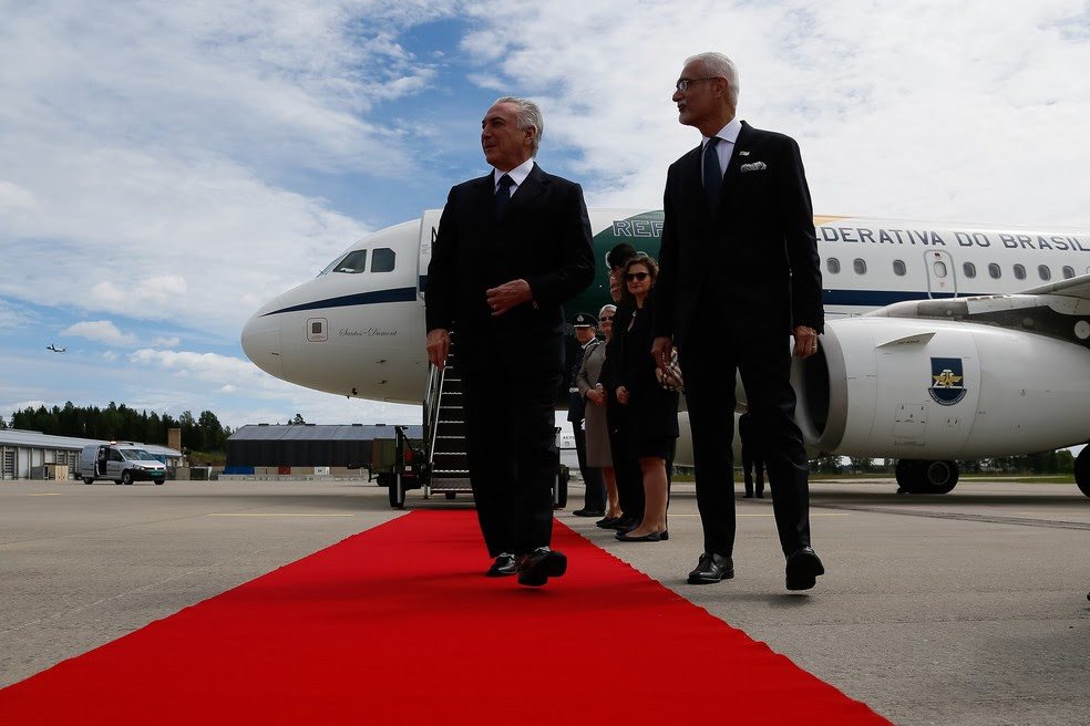 Michel Temer desembarca em Oslo para visita oficial à Noruega (Foto: Beto Barata/PR)
