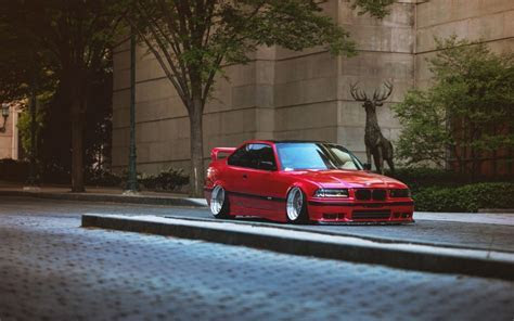 Car Bmw E36 Stance Tuning Lowered German Cars Street Trees » Car Wallpapers, Photos and Videos