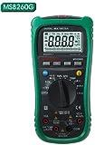 【保証期間と日本語説明書付き】非接触AC検電機能付(NCV)/温度測定/交流/ 直流対応の自動/手動レンジ ポータブルデジタルマルチメータ、MS8260G MASTECH