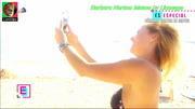 Barbara Norton Matos sensual em biquibi no programa E-Especial