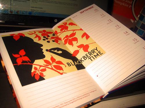 Blackberry Time - September - London Underground Poster Diary 2012