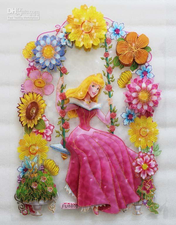 Wholesale Wall Sticker - Buy 3D Wall Sticker Sleeping Beauty Kids ...