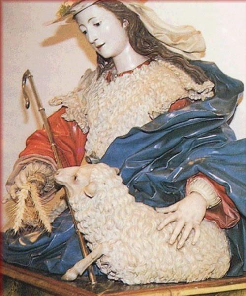 La Divina Pastora, from Nava del Rey (Valladolid), attributed to Luis Salvador Carmona 1709-1767