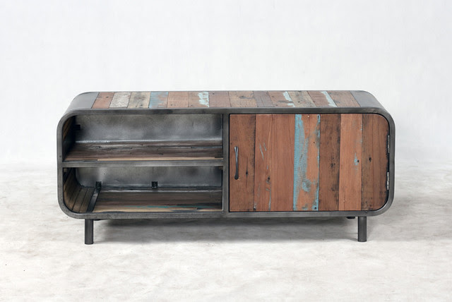 Retro / Midcentury Modern Style TV Entertainment Console ...
