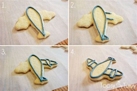 Color Flow Airplane Cookies   Ashlee Marie   real fun with