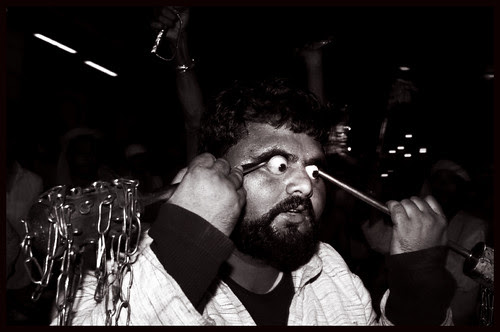 Hardcore Eye Ball Piercing - Chalak Ali by firoze shakir photographerno1