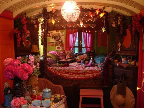 Image result for gypsy caravan inside