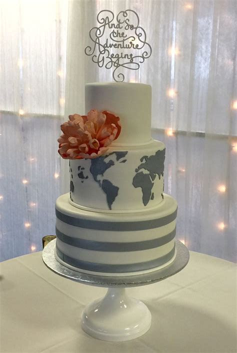 Travel theme wedding cake by @The cake Zone   Amazing