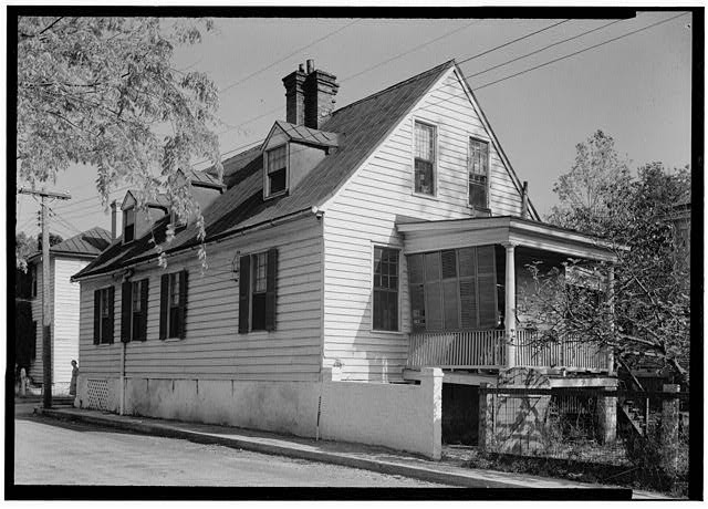 1.  Historic American Buildings Survey Photographer C. O. Greene September 1940 NORTHWEST ELEVATION - Thomas Hepworth House, 214 New Street, Beaufort, Beaufort County, SC