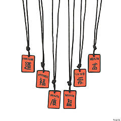 Chinese Character Necklaces
