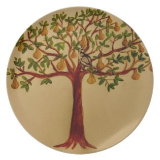 A Partridge in a Pear Tree Holiday Dinner Plate