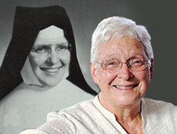 Sister Joan Sobala young and old
