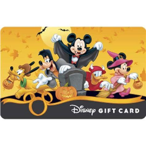 Disney Collectible Gift Card   Halloween   Mickey Trick or