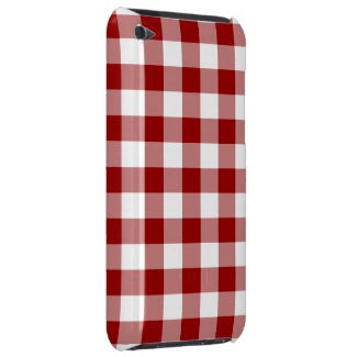 Red and White Gingham Pattern Case-mate Ipod Touch Case