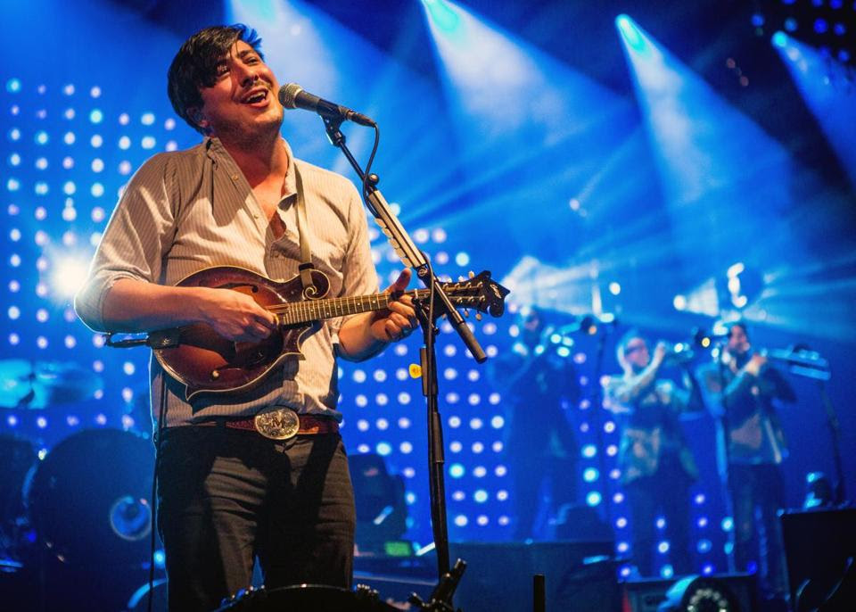 Mumford & Sons front man Marcus Mumford performed at TD Garden.