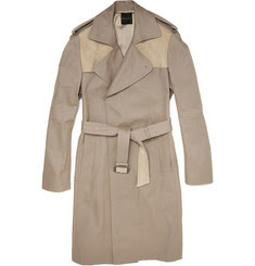 MR. by Roland Mouret Suede-Panelled Trench Coat