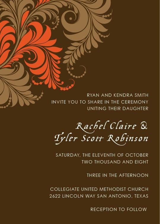 wedding invitation 23 - set of 100