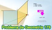 Problema de Geometría 179 (ESL): Cuadrado, Rombo, Diagonal, Angulo de 45 Grados.