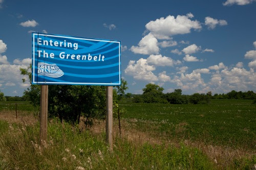 'Entering the Greenbelt' sign (Image Credit: Friends of the Greenbelt)