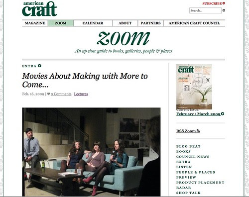 screenshot: American Craft Blog