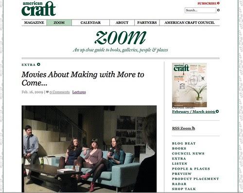 screenshot: American Craft Blog