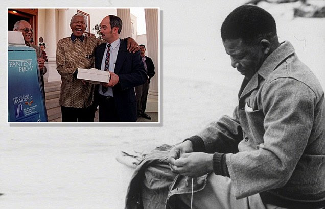 Nelson Mandela during his prison term on Robben Island
