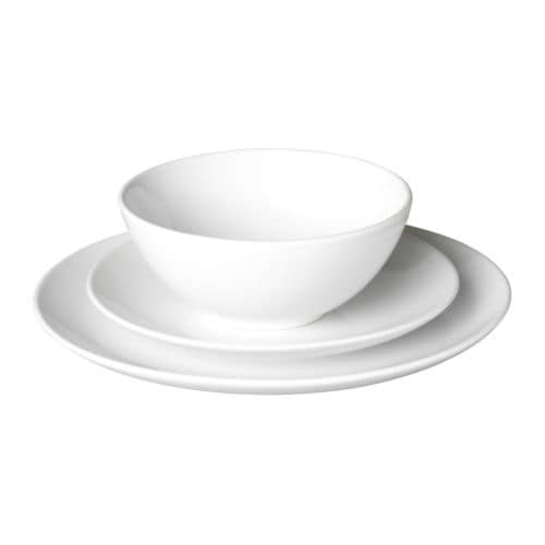FÄRGRIK 18-piece dinnerware set IKEA Service for 6. Microwave & dishwasher safe.