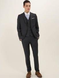 Topman Three Piece Best Navy Sherry Skinny Suit