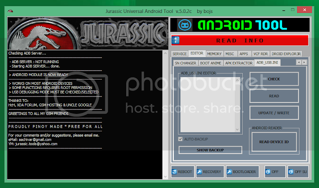 JURASSIC UniAndroid Tool v.5.0.3 [RED HOT]