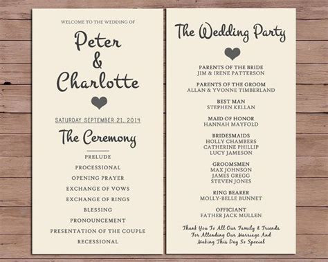 Wedding Program Order Of Service by DarlingPaperCompany on