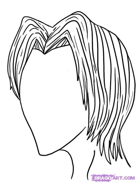 draw male hair styles step  step anime hair