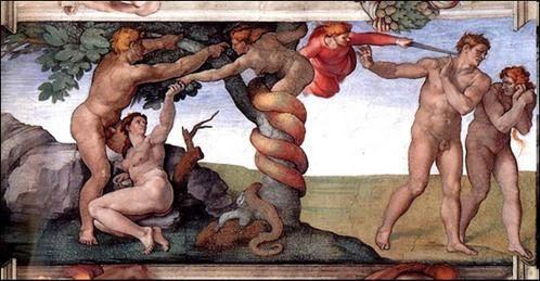 Adam et Ève chassés du Paradis