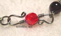 Wire wrapped bracelet clasp
