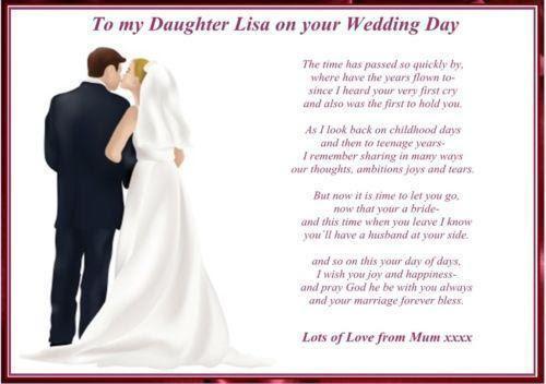Daughter Wedding Poem Ebay