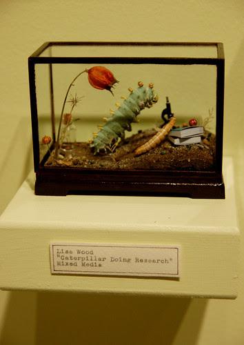 Lisa Wood, Caterpillar Doing Research, Mixed Media
