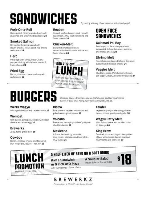 condensed lunch menu   keynote   Diner menu, Food menu