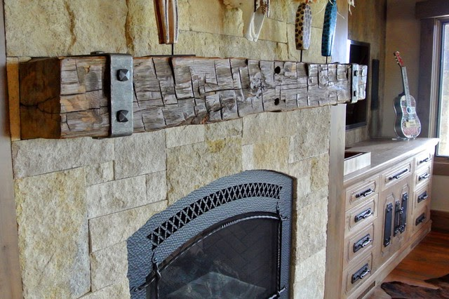 Beautiful Wood Beam Fireplace Mantel Designs images