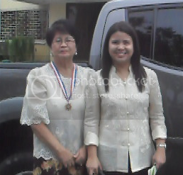 Karen Aguirre and her mother
