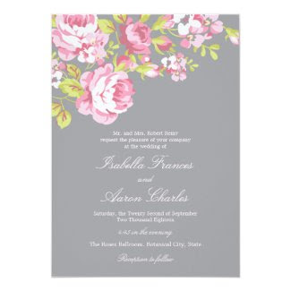 Elegant Roses Wedding Invitation