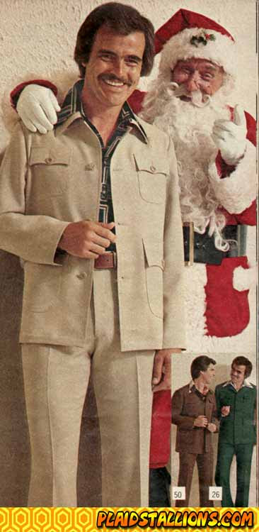 santa and leisure suit