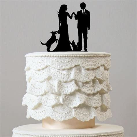 Family Wedding Cake Toppers (Dog Cat Pet Puppy /Engagement