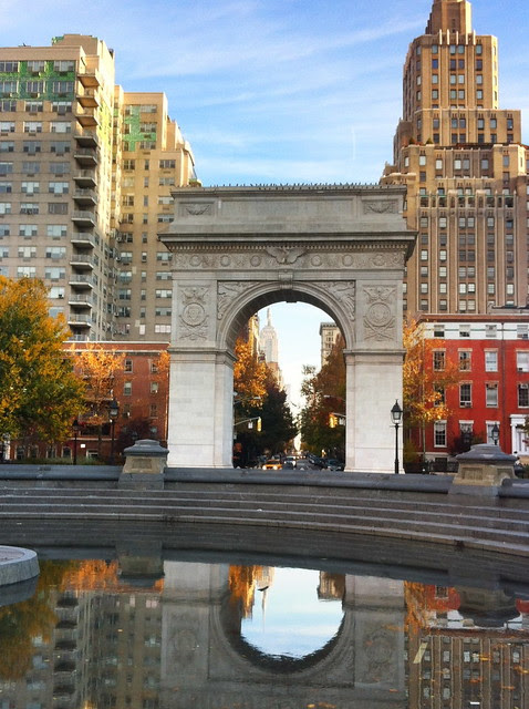 Washington Square Park, Sunday morning