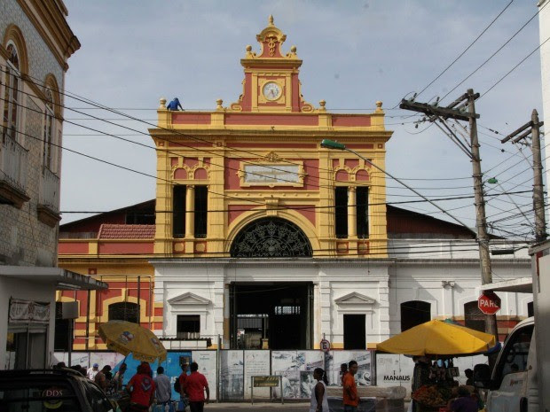 Prefeitura de Manaus prevê entrega do Mercado Municipal Adolpho Lisboa para o dia 24 de outubro (Foto: Manoel Vaz/Semcom)