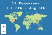 Locations of visitors to M346 blog