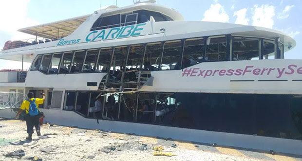 Explosión de ferri en Playa del Carmen no fue por terrorismo: PGR. Foto: Diario de Yucatán