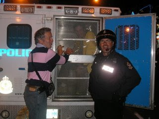 Charles in the Paddy Wagon, must have been too much GPSing