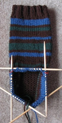 Secret cuff down bulky house socks.