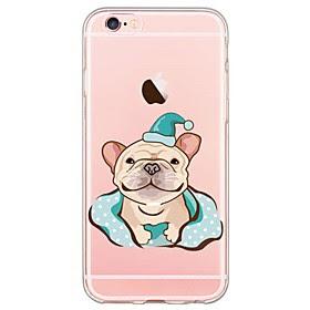 For Etui iPhone 6 / Etui iPhone 6 Plus Ultratynn / Gjennomsiktig Etui Bakdeksel Etui Hund Myk TPU AppleiPhone 6s Plus/6 Plus / iPhone